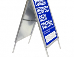 Pavement sign: Click A-Board with 32 mm profile round corners