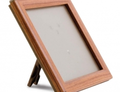 Snapframe with stand, 14 mm profile. Wood look