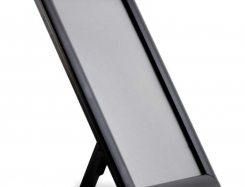 Snapframe with stand, 25 mm profile. Black