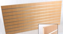 Spacewall Panel with aluminum inserts 200 x 90 cm Beech