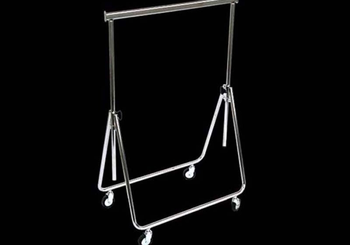 Gondola 155 x 140 x 65 with extendable arms and height regulation, Chrome