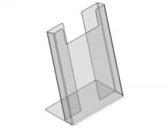 Plexi, acrylic stender for vertical brochures A4 size