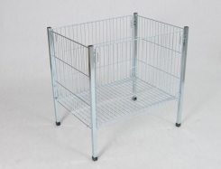Exposition clothes basket made by wire - 80 x 80 x 80