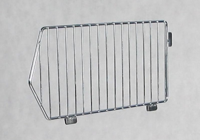 Wire separator for shopping baskets, zincked