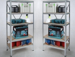 Two STRONG Regals Set  180 x 90 x 45, include 5 shelves every.