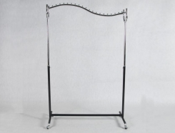 Stender with height regulation, Wave 185 cm x 120 cm x 50 cm Chrome/Black.