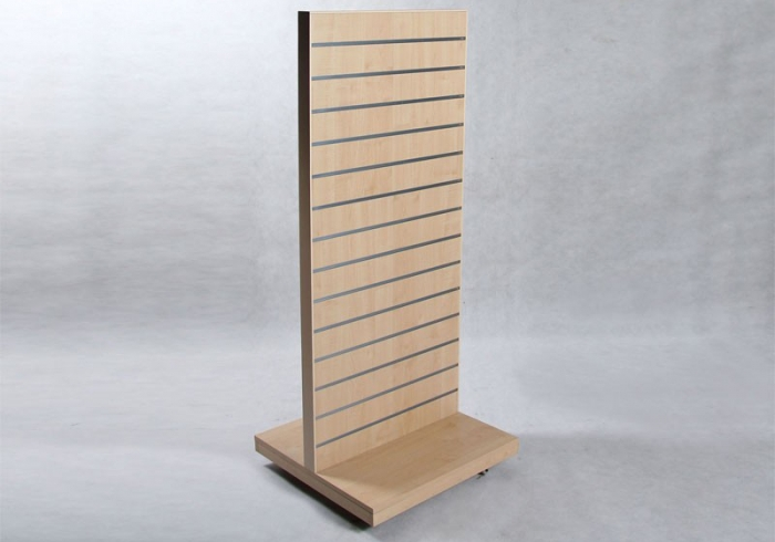 Rillepanel, shop display, 60x160cm  - Ahorn