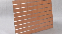 Spacewall Panel with aluminum inserts 100 x 90 cm, Beech