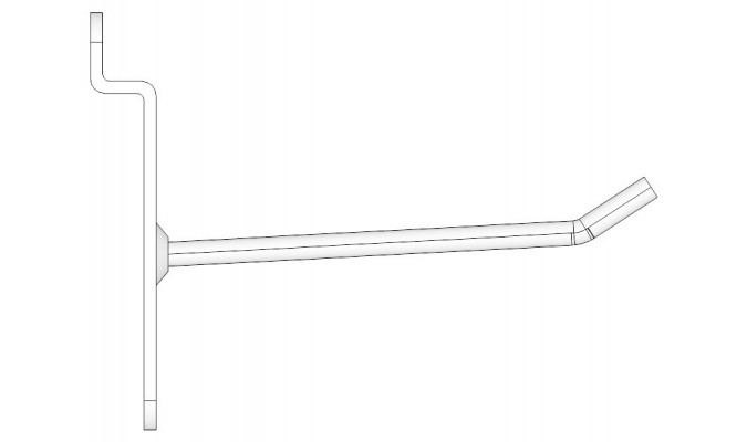Steel Hook for panel with track 20 cm