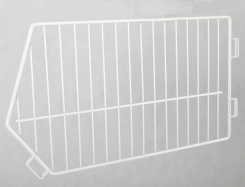 Wire separator for shopping basket 80 cm x 60 cm, white